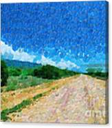 Straight Road In Ethiopia Painting Canvas Print