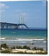 Straits Of Mackinac Canvas Print