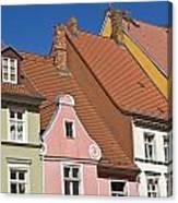 Stralsund Roofs. Canvas Print