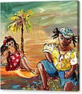 Stranded In Tahiti Canvas Print