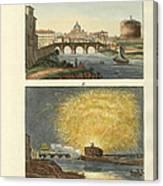 Strange Buildings In Rome Canvas Print