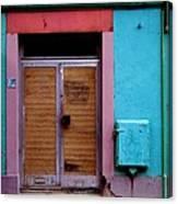 Strasbourg Door Canvas Print