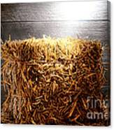 Straw Bale In Old Barn Canvas Print