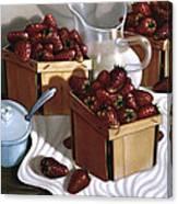 Strawberries And Cream 1997 Canvas Print