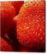 Strawberries Background Canvas Print