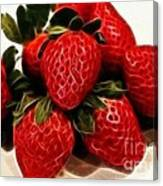 Strawberries Expressive Brushstrokes Canvas Print