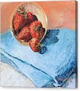 Strawberry Bowl Canvas Print