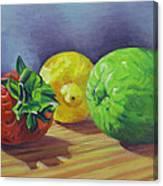 Strawberry Citrus Canvas Print