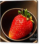 Strawberry In Nested Bowls Canvas Print