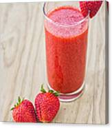 Strawberry Juice Canvas Print