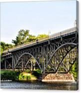 Strawberry Mansion Bridge And The Schuylkill River Canvas Print