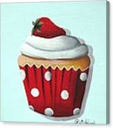 Strawberry Shortcake Cupcake Canvas Print