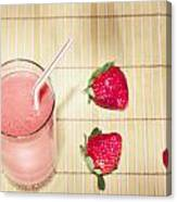 Strawberry Smoothie Canvas Print