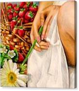 Strawberry Woman Canvas Print