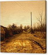 Strawmill Road Canvas Print