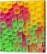 Straws Canvas Print