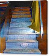 Stray Breeze On The Stairs Canvas Print