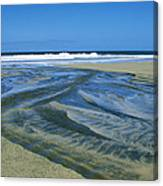 Stream On Beach Canvas Print