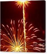 Streaming Fireworks Canvas Print
