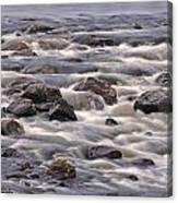Streaming Rocks Canvas Print