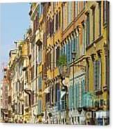 Street And Obelisk Canvas Print