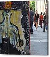 Street Art And Street Scene London Canvas Print