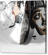 Street Art In The Snow Canvas Print