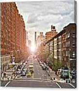 Street As Seen From The High Line Park Canvas Print