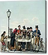 Street Breakfast Engraved By G.hunt Canvas Print