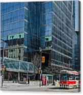 Street Car In Toronto Canvas Print
