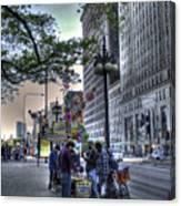 Street Chess Canvas Print