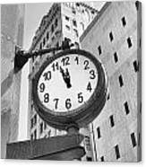 Street Clock Canvas Print