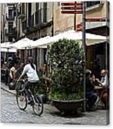 Street Corner Girona Spain Canvas Print