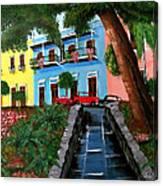 Street Hill In Old San Juan Canvas Print