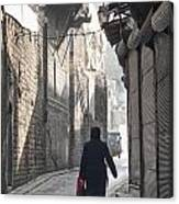 Street In Aleppo Syria Canvas Print