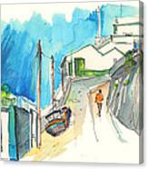 Street In Ericeira In Portugal Canvas Print