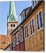 Street In Helsingor Denmark Canvas Print