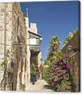 Street In Jaffa Tel Aviv Israel Canvas Print