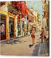 Street In Nafplio Greece Canvas Print