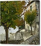 street in old Albaycin in Granada Canvas Print