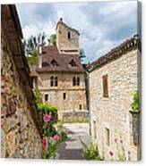 Street In Saint-cirq-lapopie Canvas Print