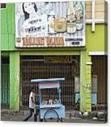 Street In Surabaya Indonesia Canvas Print