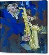 Street Jazzman Near Park  Canvas Print