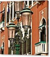 Street Lamps Of Venice Canvas Print