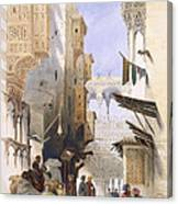 Street Leading To El Azhar, Grand Canvas Print