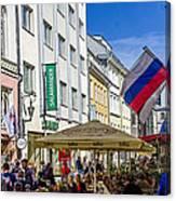 Street Life - Tallin Estonia  Canvas Print