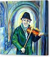 Italian Street Music. Part Two Canvas Print