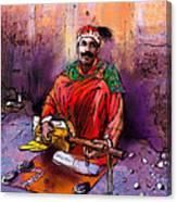 Street Musician In Marrakesh 01 Canvas Print