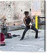 Street Musician Milan Italy Canvas Print