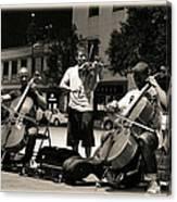 Street Musicians 2 Canvas Print